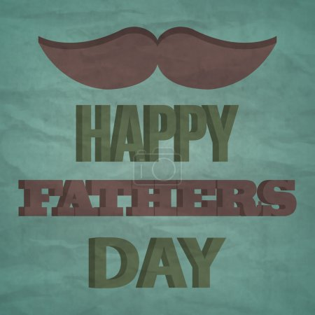 Happy fathers day vintage card. Vector
