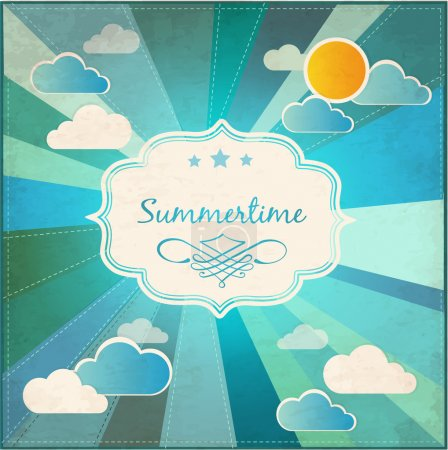 Summer grunge textured background. Vector