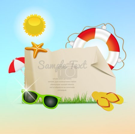 Illustration for Retro styled summer banners - Royalty Free Image
