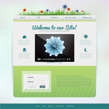 Illustration pour Modèle de site web, illustration vectorielle - image libre de droit