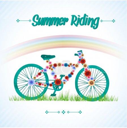 Oldtimer-Fahrrad. , Vektorillustration