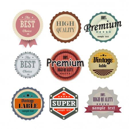 Colección de etiquetas de alta calidad
