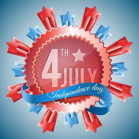 Illustration pour Jour de l'Indépendance 4 juillet fond vectoriel - image libre de droit