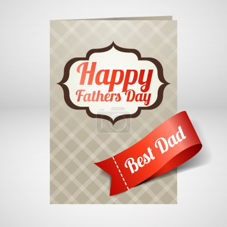 Happy fathers day card. Vector