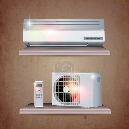 Air conditioner vector set