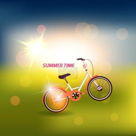 Oldtimer-Fahrrad, Vektor-Illustration