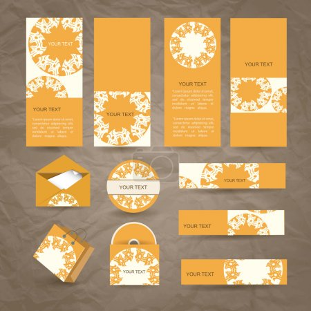 Selected Corporate Templates, vector illustration
