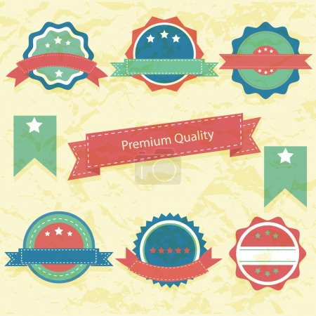 Illustration for Collection of High Quality labels - Royalty Free Image
