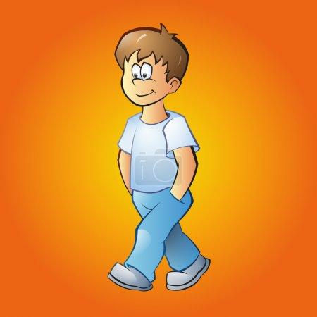 Illustration pour Illustration vectorielle d'un garçon - image libre de droit
