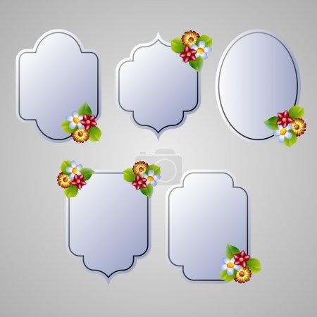 Illustration pour Ensemble de cadres de flore vecteur - image libre de droit