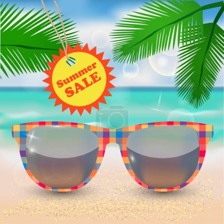 Photo for Summer sale. Vector illustration - Royalty Free Image
