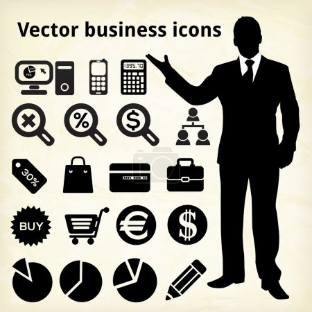 Illustration for Business icons, vector illustration - Royalty Free Image