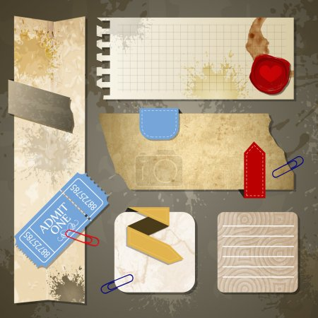 Old paper textures vector illustration