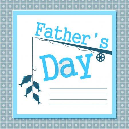 Illustration pour Carte de fête des pères - image libre de droit