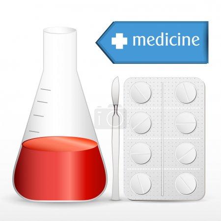 Illustration pour Illustration des équipements médicaux - image libre de droit
