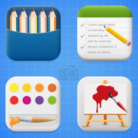 Vector set of art icons