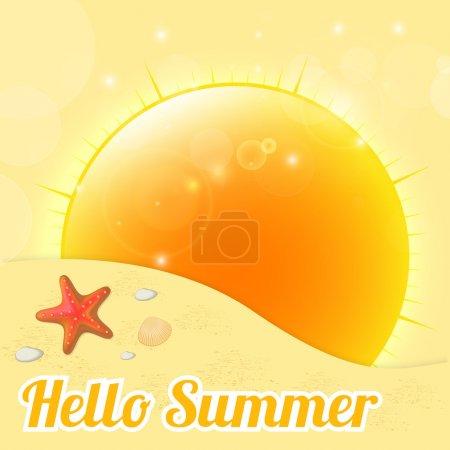 Foto de Fondo de verano. ilustración vectorial. - Imagen libre de derechos