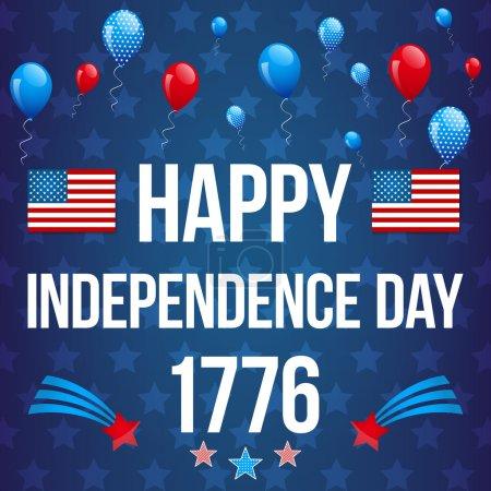 Independence Day postcard design