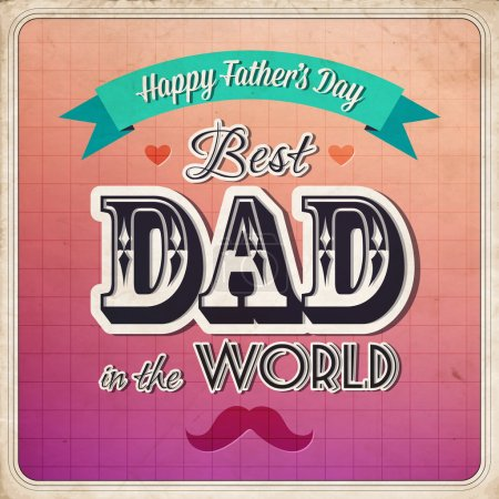 Happy father's day card vintage retro