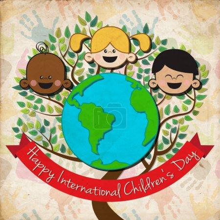 Contexte vectoriel pour la journée internationale de l'enfant