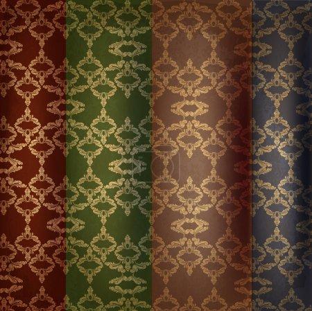 Illustration for Vector set of vintage background. - Royalty Free Image
