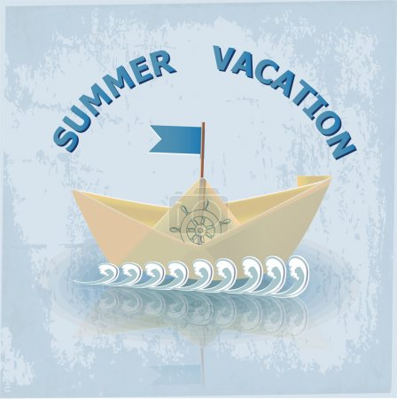 Summer vacation illustration vector illustration