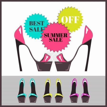 Summer sale. Vector vector illustration