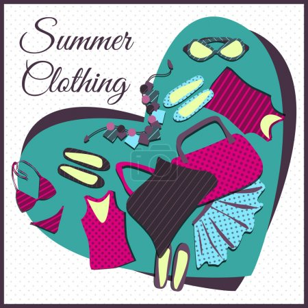 Summer clothes. Vector vector illustration