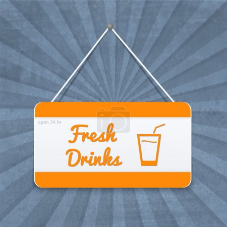 Orange - white plate with drinks signs