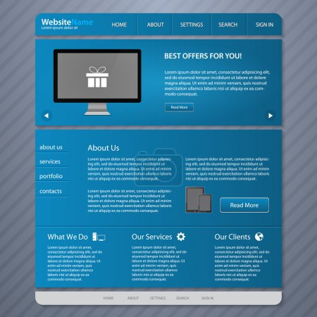 Website Templates vector illustration