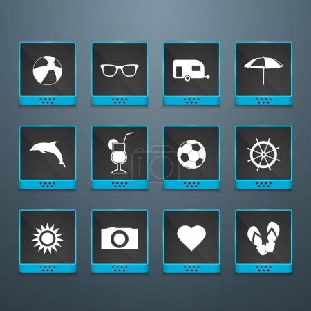 Sommer Symbole Vektor Illustration