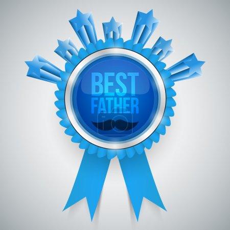 Illustration for Best father award vector illustration - Royalty Free Image