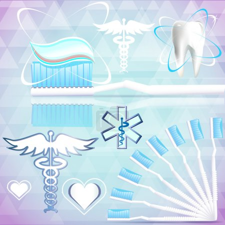 Medical signs on abstract background