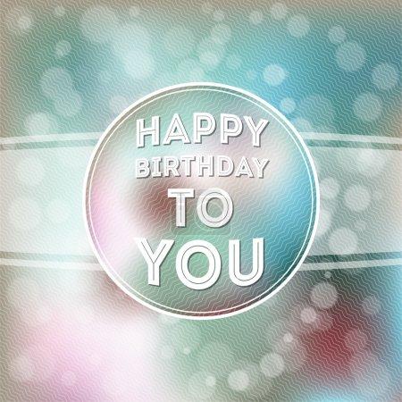 Happy birthday poster vector illustration