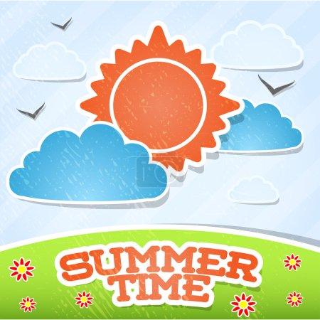 Illustration for Summer time card vector illustration - Royalty Free Image