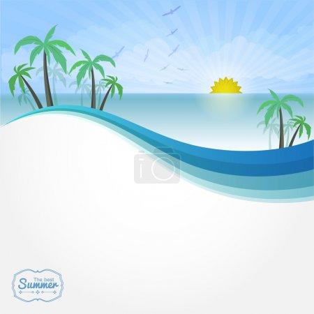 Summer vector background vector illustration