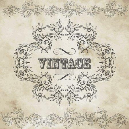 Photo for Vintage design elements set - Royalty Free Image