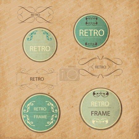 Illustration for Vintage design elements set - Royalty Free Image