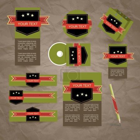 Corporate design vector illustration