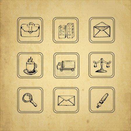 Illustration pour Ensemble d'éléments design vintage - image libre de droit