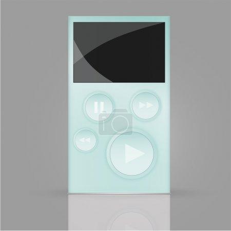 Walkman-Vektor-Illustrationsvektor