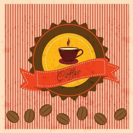 Illustration pour Fond vintage avec café - image libre de droit