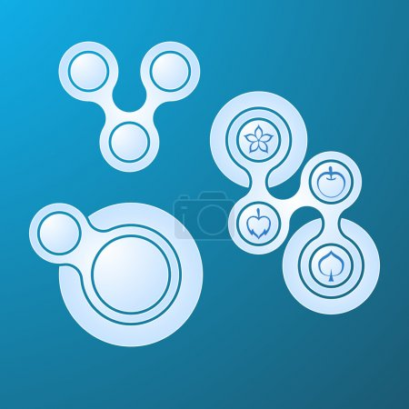 Web buttons set vector illustration
