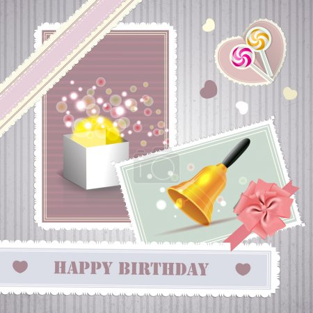 Photo pour Illustration vectorielle de carte d'anniversaire - image libre de droit