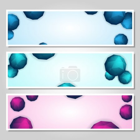 Illustration for Vector set of banners - Royalty Free Image