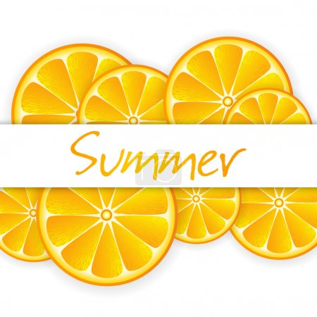 Illustration for Summer background with oranges - Royalty Free Image