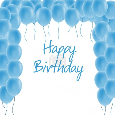 Illustration for Happy birthday greeting card - Royalty Free Image