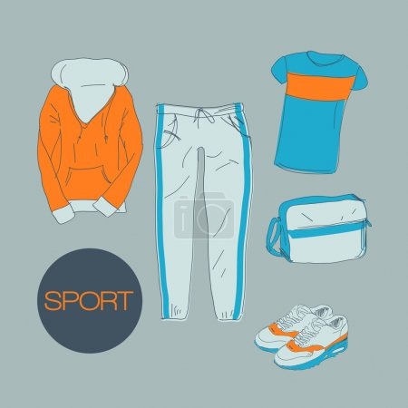 Sports clothes illustration vector illustration