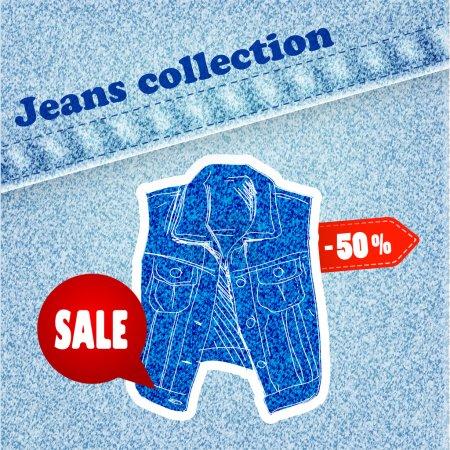 Illustration pour Jeans Vente illustration vectorielle bannière - image libre de droit