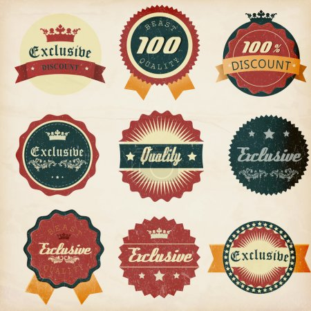 Vintage design emblems set